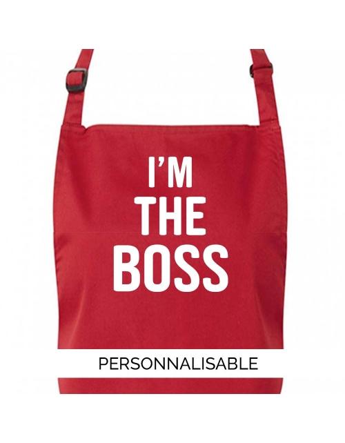 Tablier de cuisine à personnaliser I'm the boss