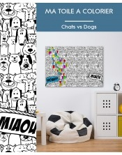 Ma toile à colorier Chat vs Dog
