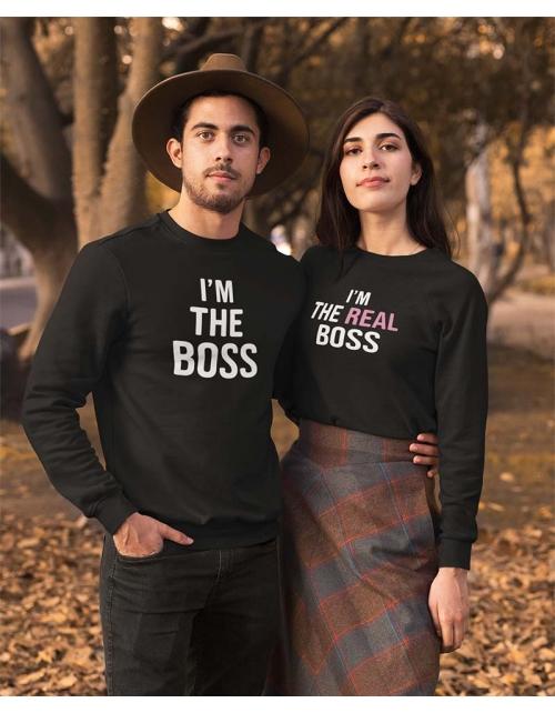 Sweat à personnaliser I'm The Boss
