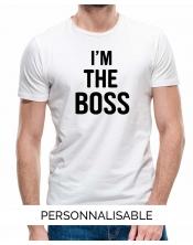 T-shirt homme à personnaliser The Boss by Pilou et Lilou