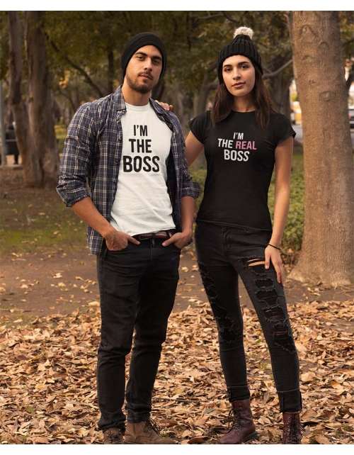 T-shirt femme à personnaliser I'm the Real Boss by Pilou et Lilou