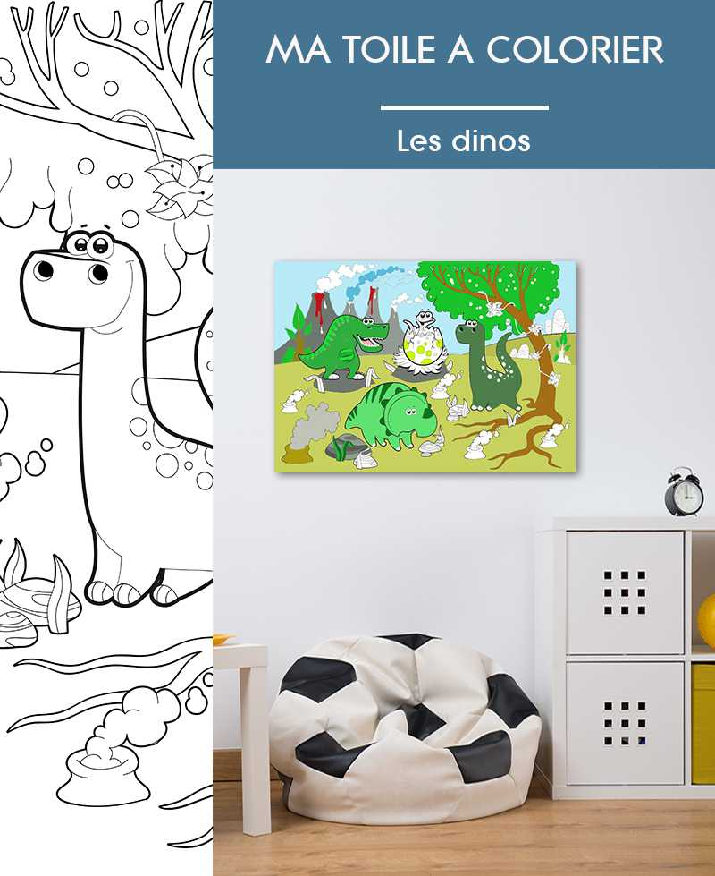Ma toile à colorier Les Dinos