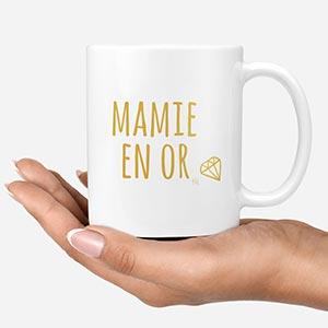 Mug Mamie en Or by Pilou & Lilou