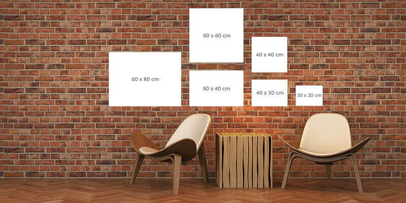 Formats disponibles pour les toiles canvas