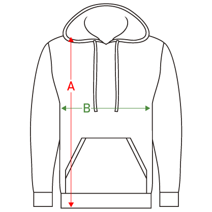 guide des tailles hoodie homme