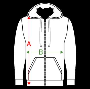guide des tailles sweat zip