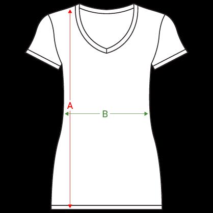 guide des tailles t shirt femme col V