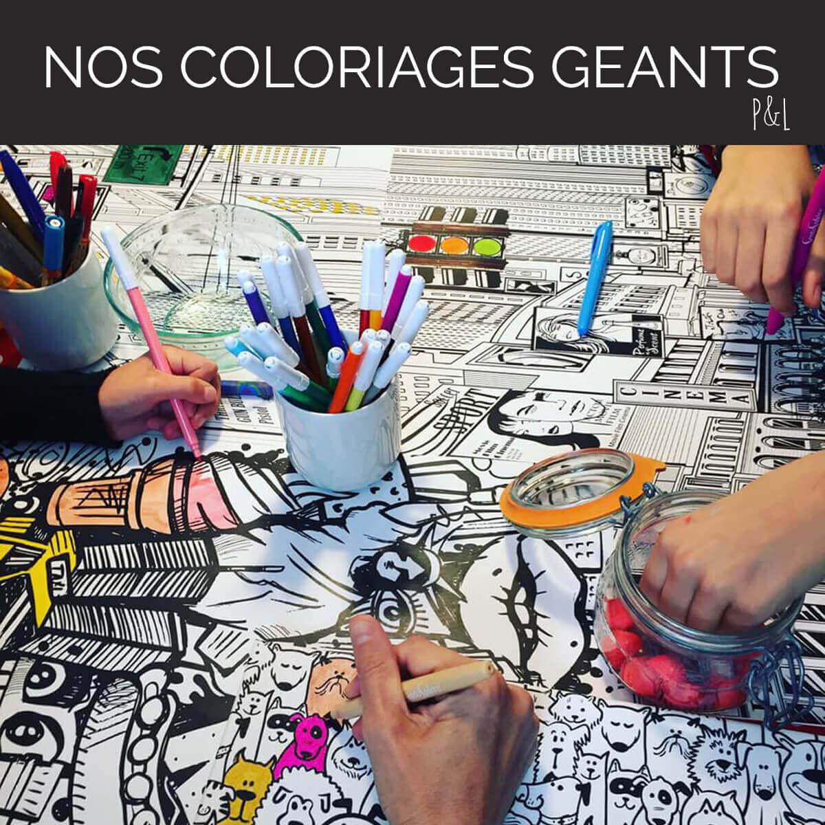 Nos coloriages géants