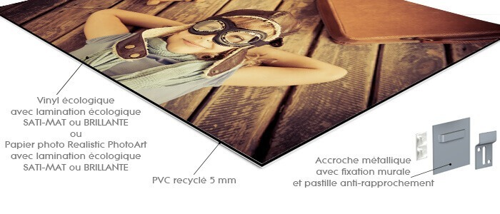 photo sur pvc recyclé en detail